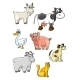 Cartoon Farm Animals - GraphicRiver Item for Sale