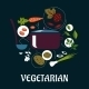 Cooking Vegetarian Dish Infographic - GraphicRiver Item for Sale