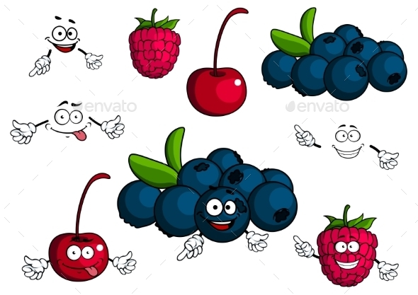 GraphicRiver Berry Cartoons 10623176