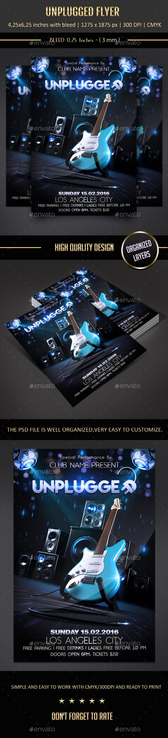 GraphicRiver Unplugged Flyer 10623384