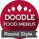 Doodle Food Menu Package (round) - GraphicRiver Item for Sale