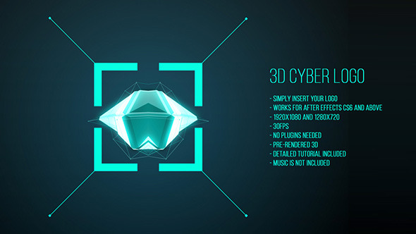 AE模板:现代三维动感多边形设计 企业公司标识logo展示动画 扁平化风格MG模板 免费下载
