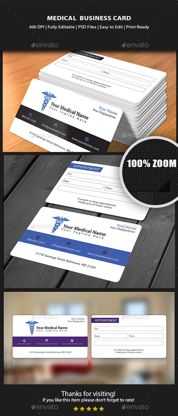 GraphicRiver Medical Business card 10444635