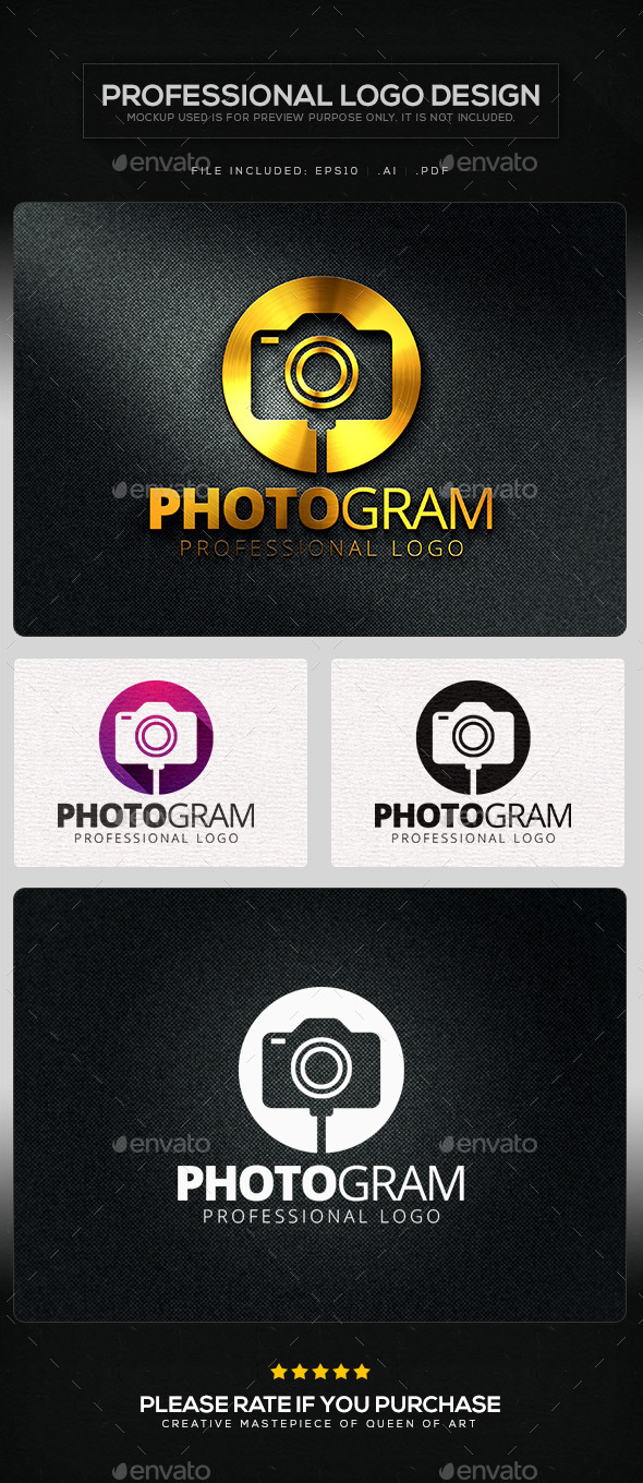 GraphicRiver Photogram Logo Template 10623482