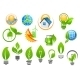 Abstract Eco or Green Energy Icons - GraphicRiver Item for Sale
