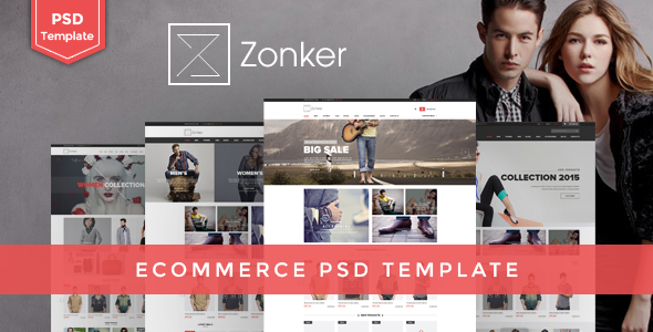 ThemeForest Zonker Ecommerce PSD Template 10623650