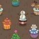 Christmas Cupcake Pattern - GraphicRiver Item for Sale