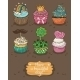 Cupcake with Different Toppings  - GraphicRiver Item for Sale