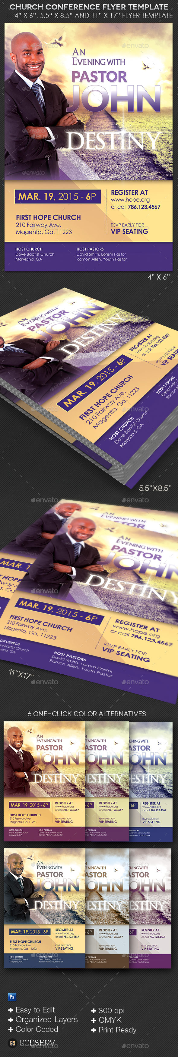 GraphicRiver Church Conference Flyer Template 10623904