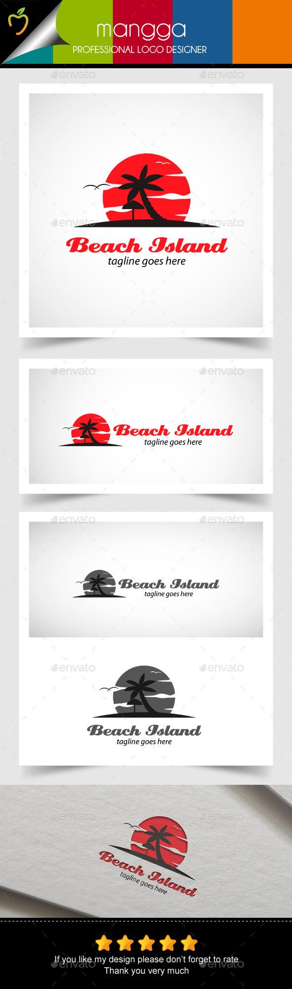GraphicRiver Beach Island Logo 10623907