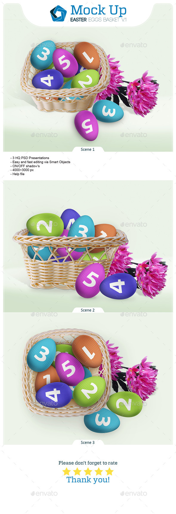 GraphicRiver Easter Eggs Basket V.1 10624064