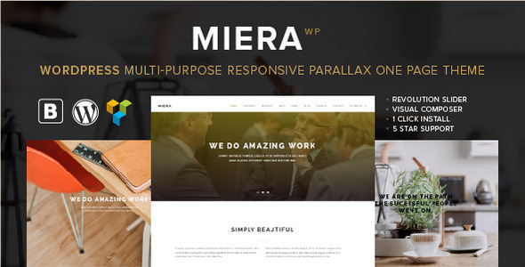 MIERA - Multi Purpose Responsive Parallax One Page