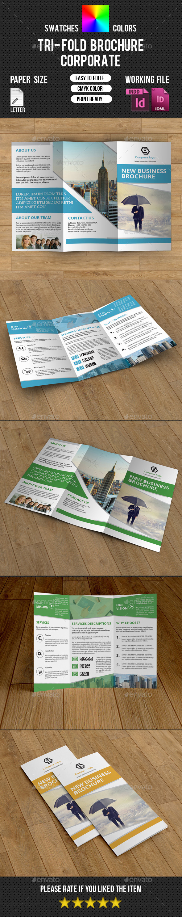 GraphicRiver Corporate Trifold Brochure-V225 10624373