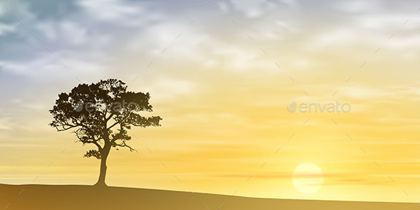 GraphicRiver Lone Tree 10624438