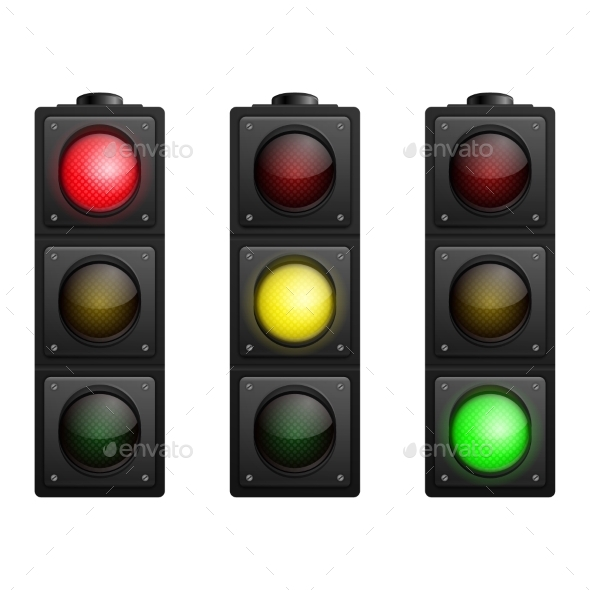 GraphicRiver Set of Traffic Lights 10624531