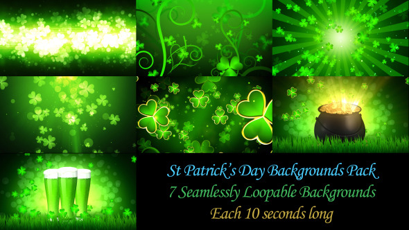 VideoHive St Patrick s Day Backgrounds Pack 10624534