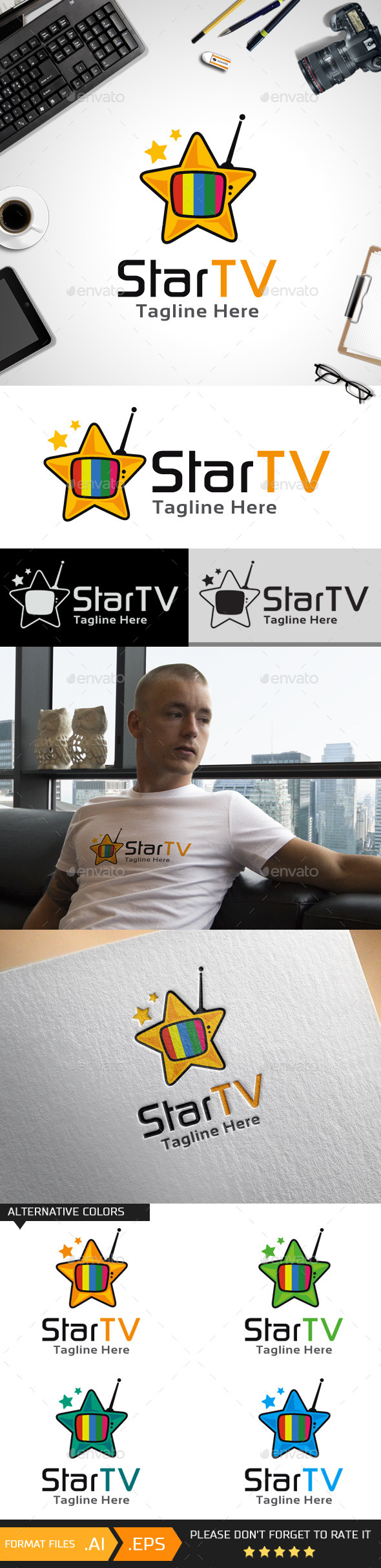 Star TV Logo Template