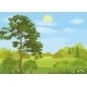 Summer Landscape with Trees and Sky - GraphicRiver Item for Sale