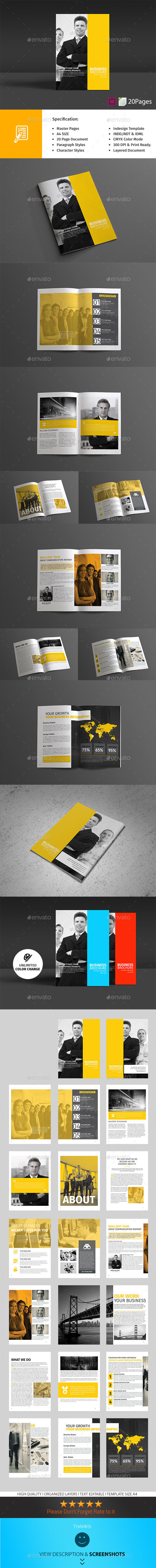 GraphicRiver Business Brochure 20 Pages 10625137