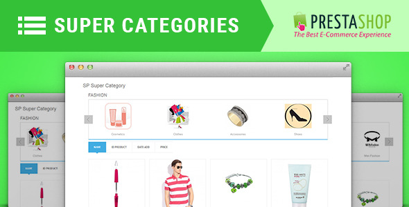 CodeCanyon SP Super Category Responsive Prestashop Module 10625340