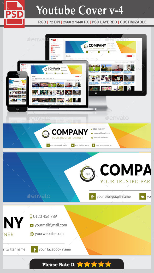 GraphicRiver Youtube Cover v-4 10625386