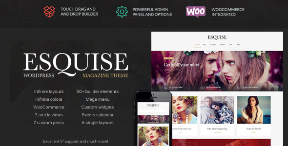 ThemeForest Esquise Magazine WordPress Theme 10392928