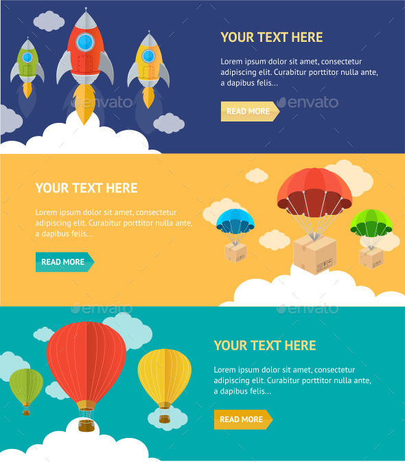 GraphicRiver Airship Banner 10625456