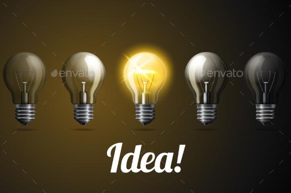 GraphicRiver Lightbulbs 10625459