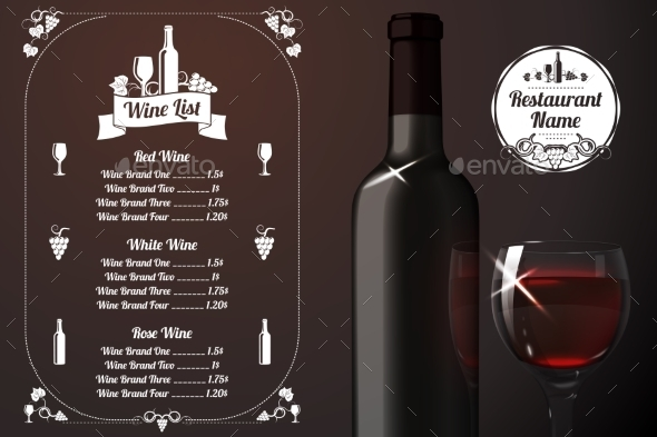 GraphicRiver Menu Template with Alcohol 10625460