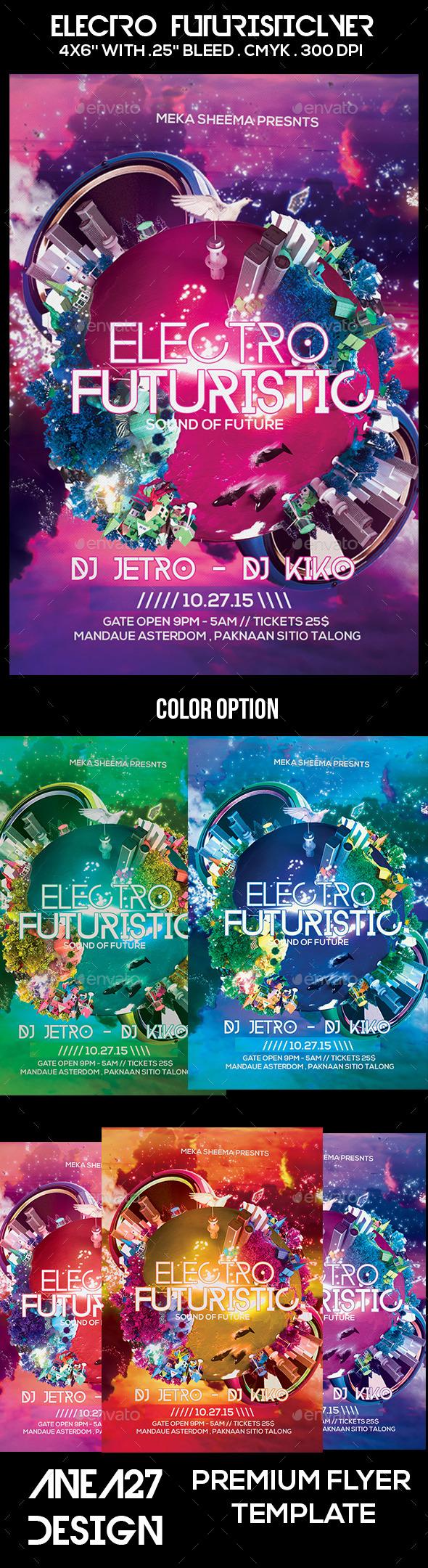 GraphicRiver Electro Futuristic Flyer 10625464