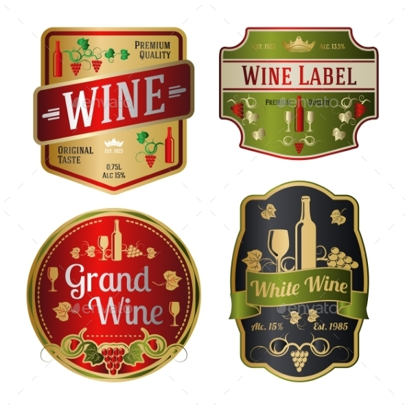 GraphicRiver Wine Labels 10625465