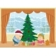 Children with Christmas Tree  - GraphicRiver Item for Sale