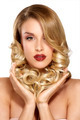 Beautiful young blond model curly hair posing - PhotoDune Item for Sale