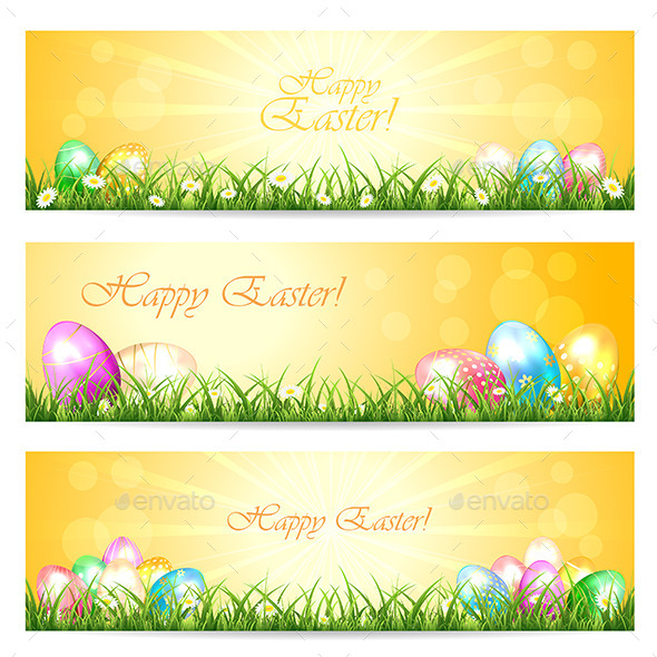 GraphicRiver Three Easter Cards 10627913