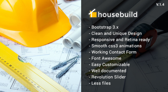 Housebuild - HTML Construction Business Template