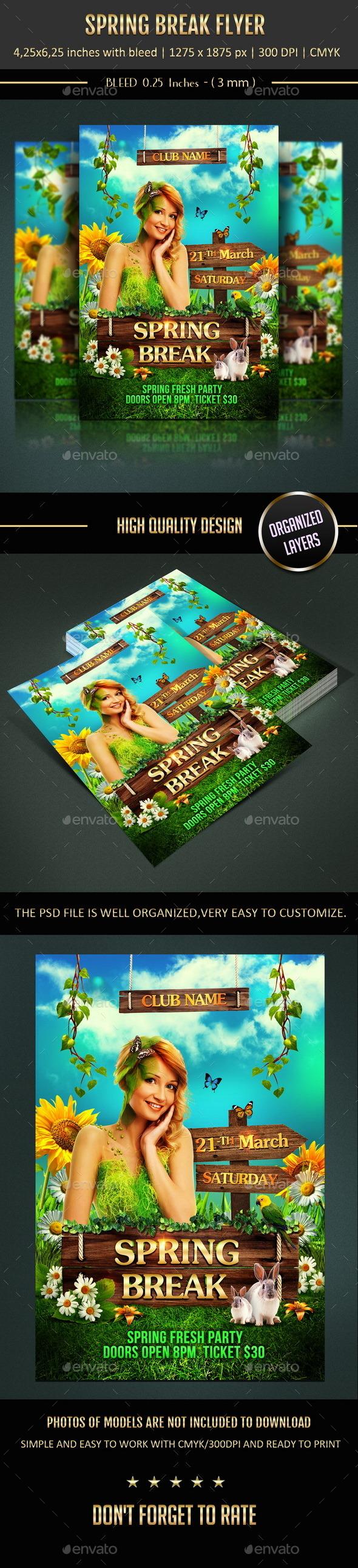 GraphicRiver Spring Break Flyer 10547951