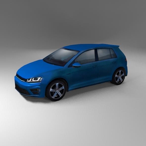 German Hatchback 2015 R line generic - 3DOcean Item for Sale