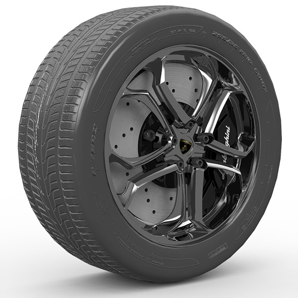 Lamborghini Wheel ZR19 - 3DOcean Item for Sale