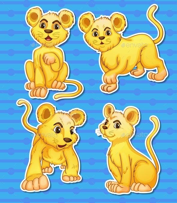 GraphicRiver Lion Set 10628152