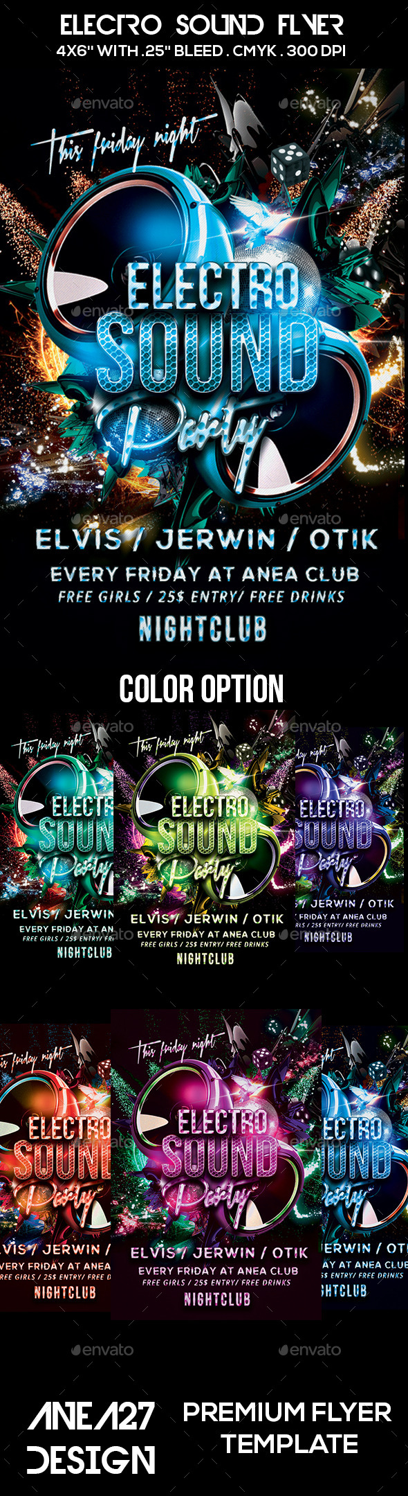 GraphicRiver Electro Sound Flyer 10628180
