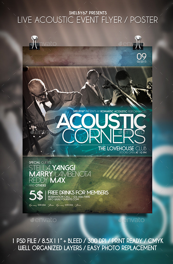 GraphicRiver Live Acoustic Event Flyer Poster 10628196