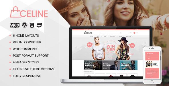 ThemeForest Celine Responsive Shopping WordPress Theme 10628230