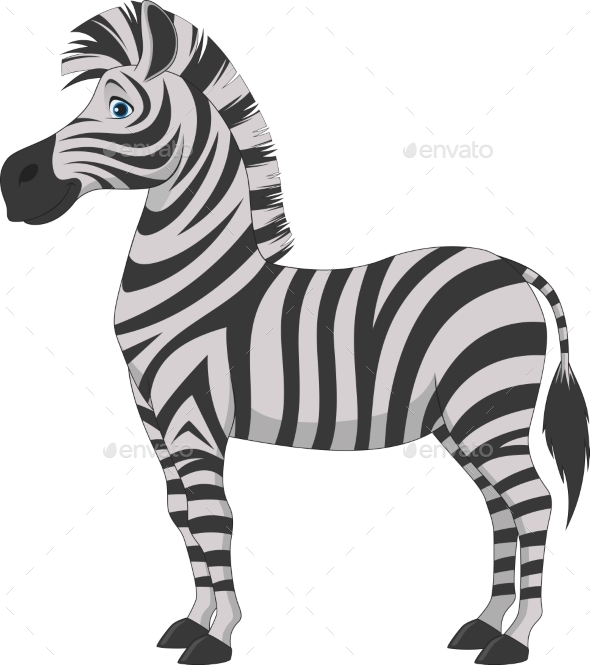 GraphicRiver Zebra Cartoon 10628288