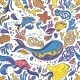 Bright Sea Doodle Pattern - GraphicRiver Item for Sale