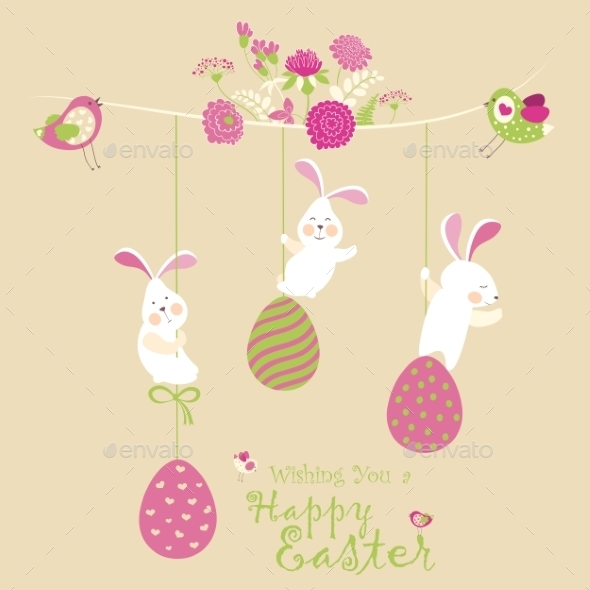 GraphicRiver Easter Bunnies 10628316