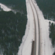 Flying Above Winter Forest and Railroad - VideoHive Item for Sale