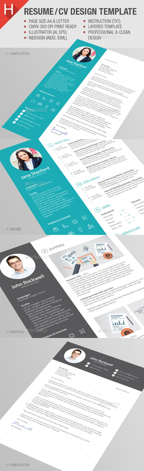 GraphicRiver Resume CV Template 10628798