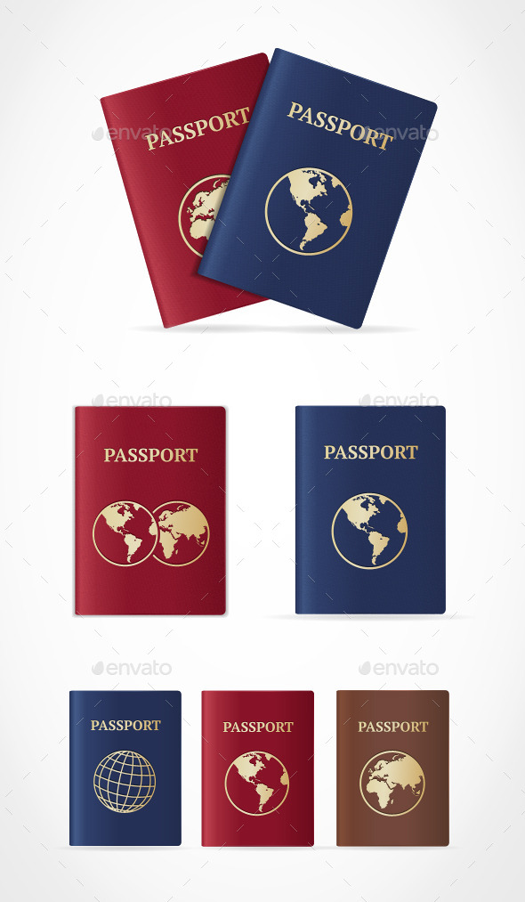 GraphicRiver Passport Set 10629045