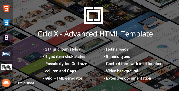 ThemeForest Grid X Advanced Square Portolio Dynamic Template 10581037