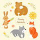 Cartoon Animals Set - GraphicRiver Item for Sale